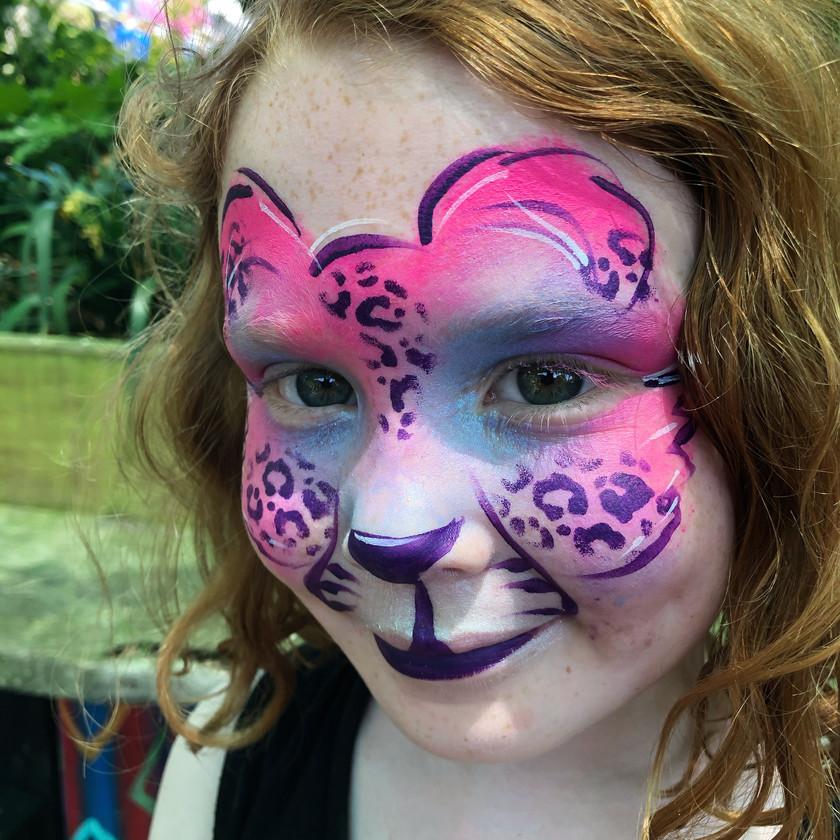 leopard face painting jungle Wellington New Zealand