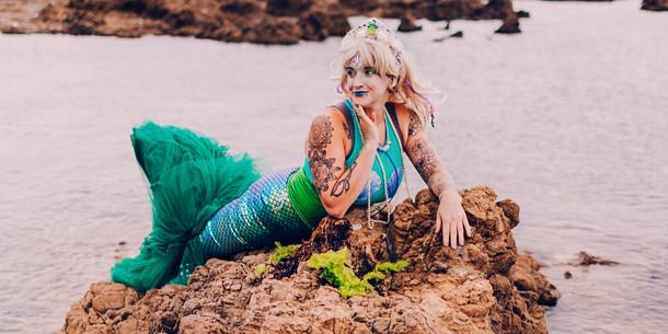 mermaid girl character Wellington New Zealand