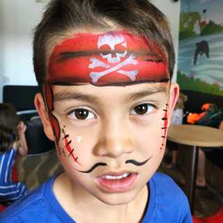 Pirate kids face paint