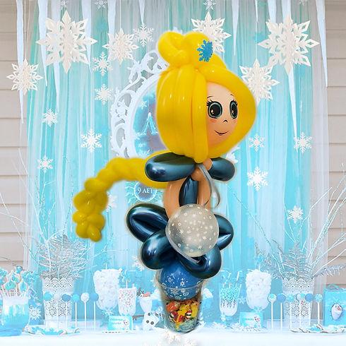 Elsa from frozen balloon favour sculpture Wellington New Zealand