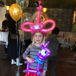Flamingo balloon hat