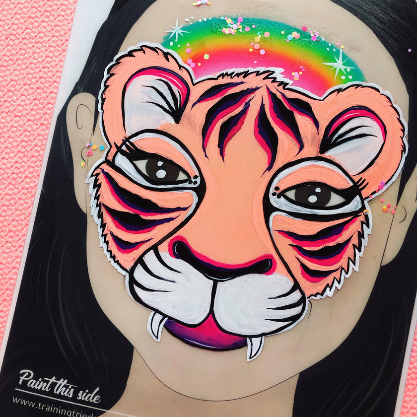 Tiger face painting Wellington New Zealand