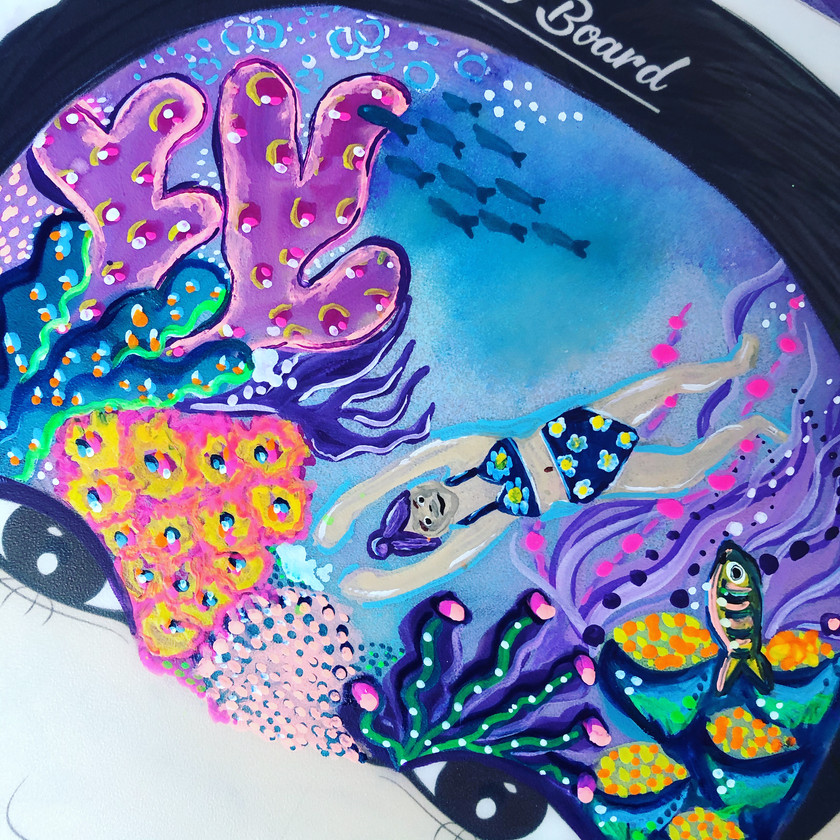 under the sea face painting Coral Wellington New Zealand