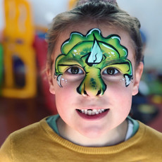 Dino Triceratops face paint