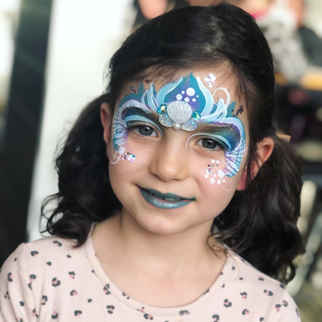 Mermaid face painting