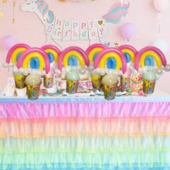 Rainbow balloon favours