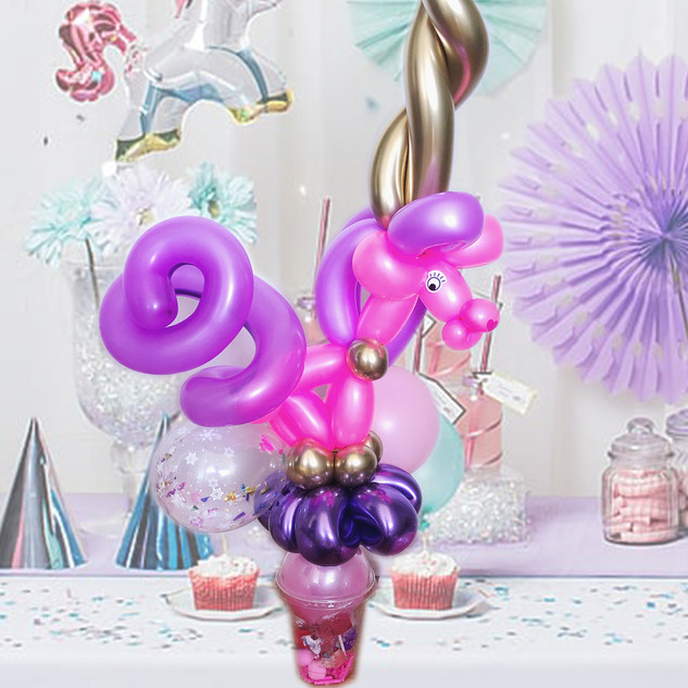 unicorn balloon favour