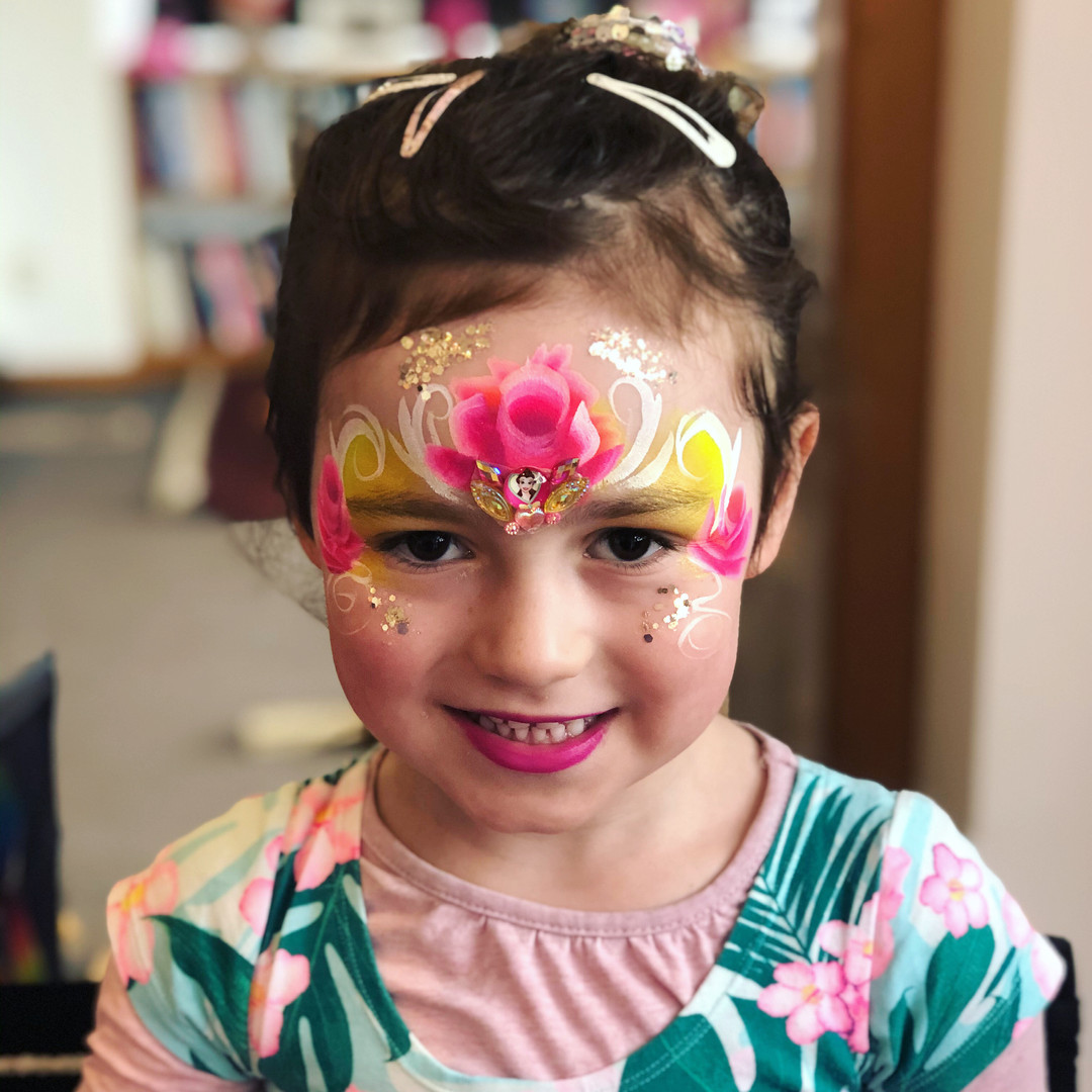 Rose princess face painting