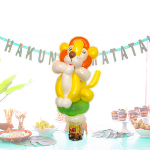 Lion balloon twisting party favour Wellington New Zealand