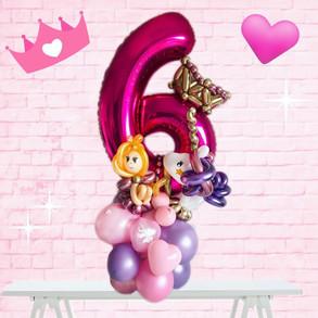 Princess unicorn pink balloons