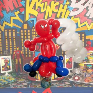 spiderman balloon animal