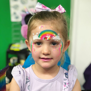 Rainbow face paint