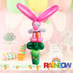 Bunny rabbit balloon twisting