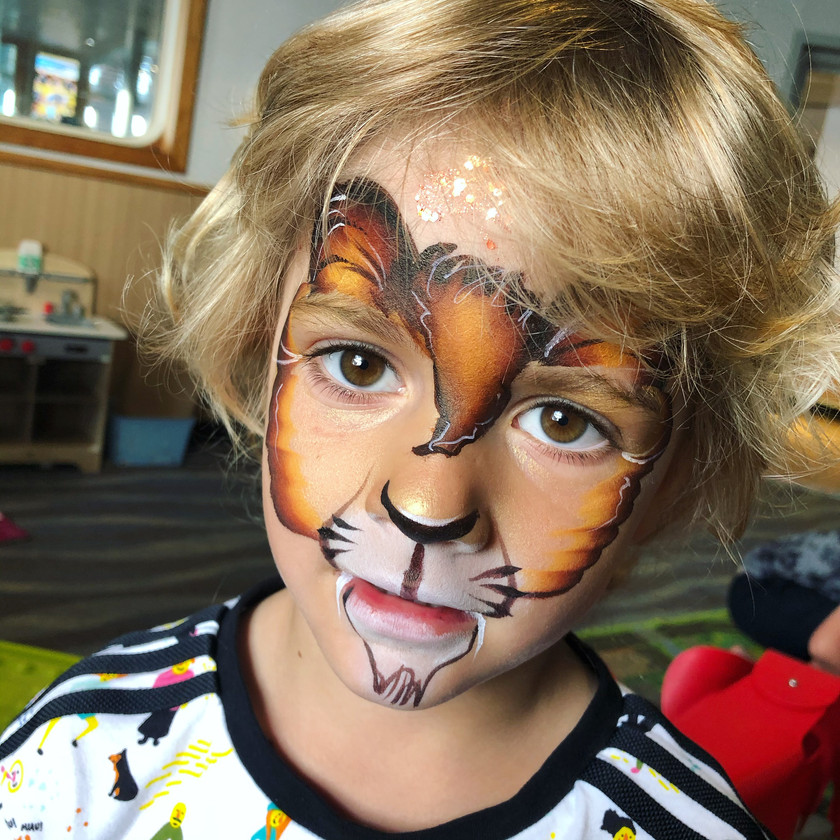 lion face painting Jungle Wellington New Zealand
