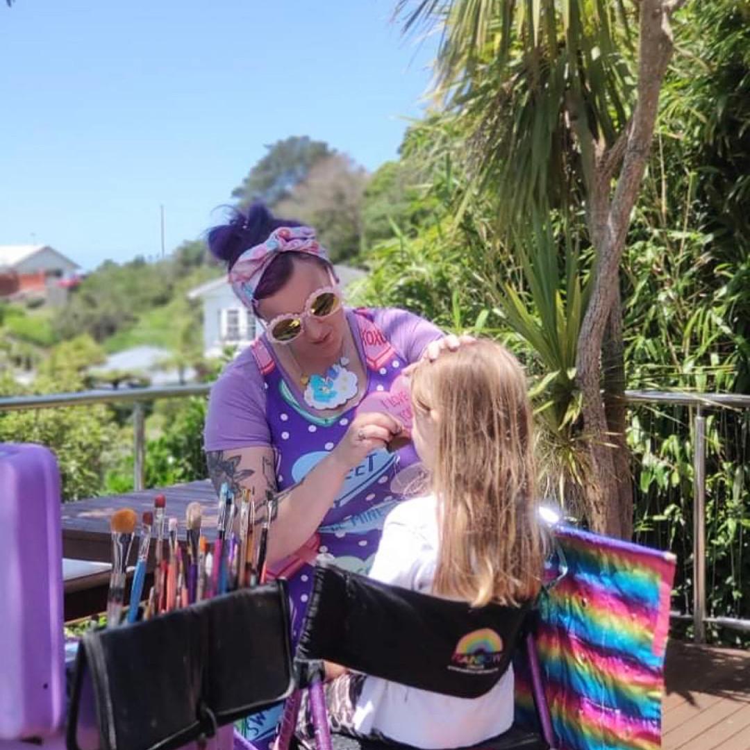 Rainbow Circus Face Painter Wellington New Zealand