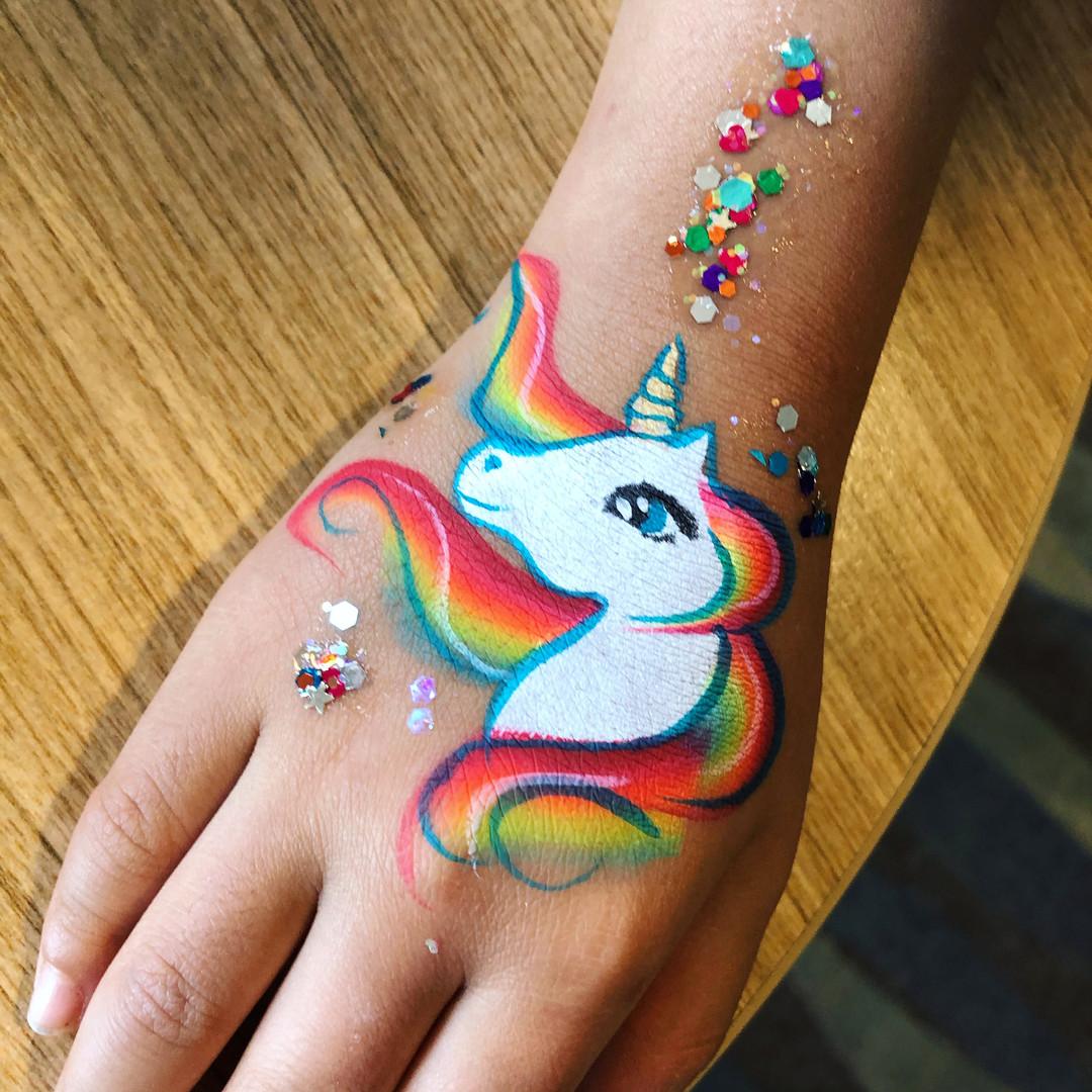rainbow unicorn painting