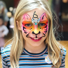 Rainbow unicorn Tiger face paint