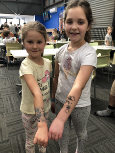 Girls with tattoos airbrush temporary Wellington New Zealand