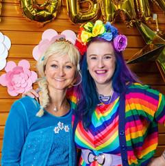 Rainbow and Elsa