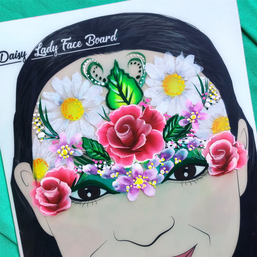 Flowers face painting floral rose daisy Wellington New Zealand