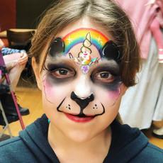 Rainbow Panda Pandicorn Unicorn face paint