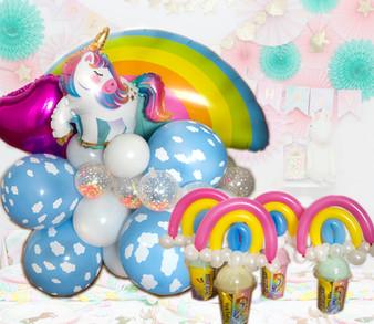 unicorn balloon decor set