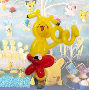 Pokemon Pikachu balloon twisting at party Wellington New Zealand