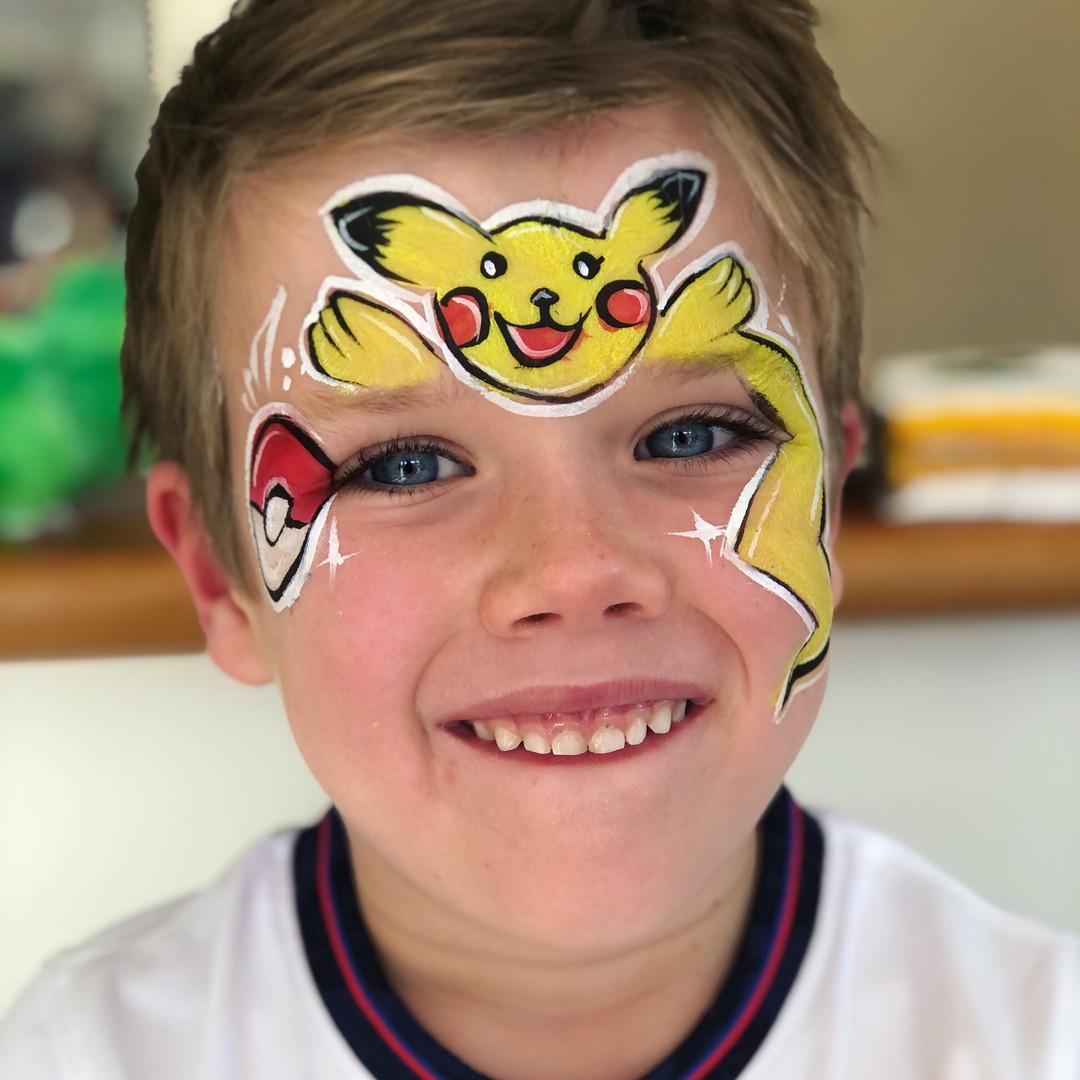 Pikachu boy face paint