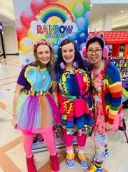 Rainbow circus artists