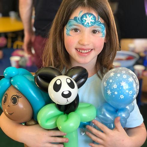 Panda, Mermaid and frozen wand balloon twisting. Kid at party Wellington, New Zealand