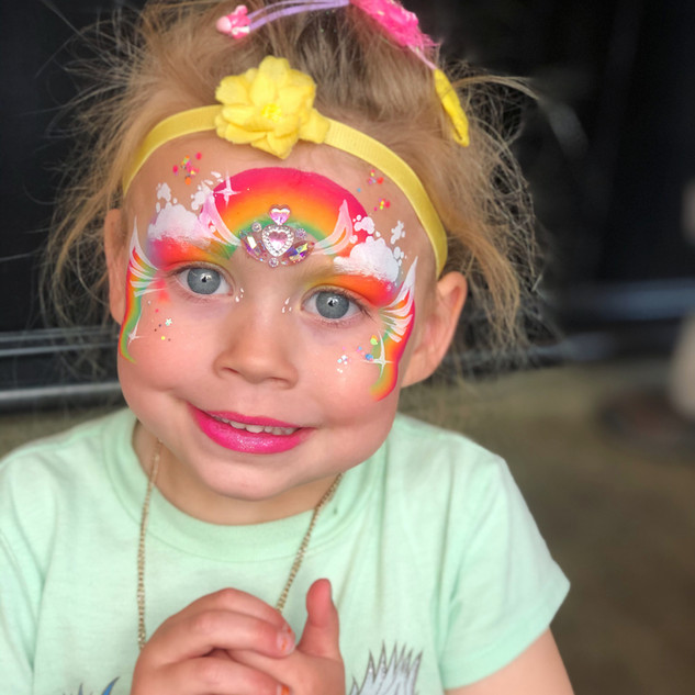 Rainbow Princess face painting