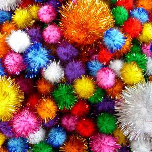 Glitter Pom Poms Craft Workshop DIY Kids Wellington New Zealand