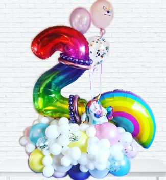 Rainbow Balloon twisting centrepiece Wellington New Zealand