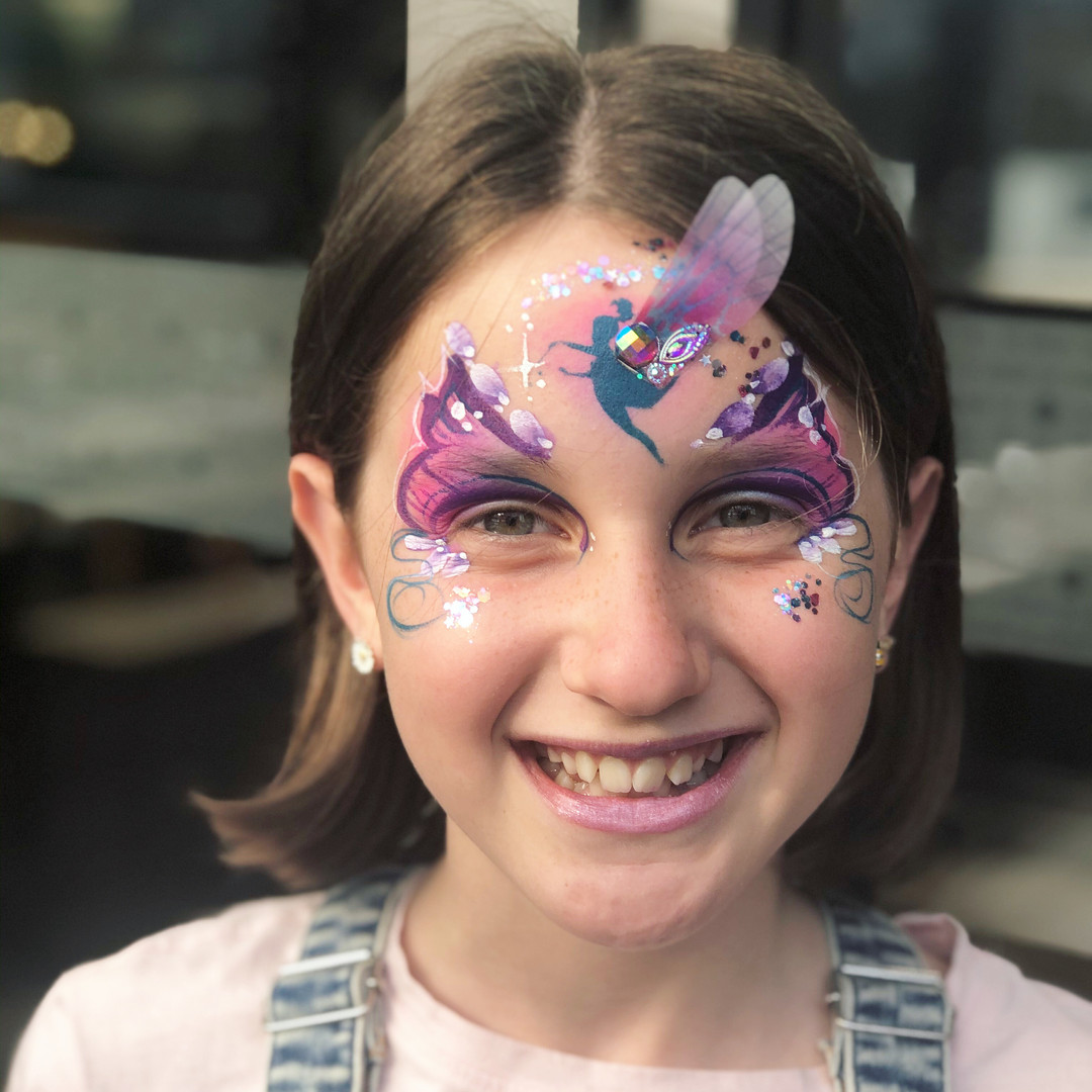 Fairy butterfly face painting