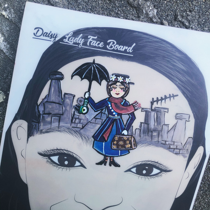 Mary Poppins face painting Wellington New Zealand