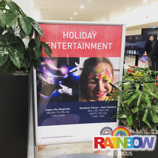 Holiday Entertainment sign at Johnsonville Shopping Centre Wellington New Zealand