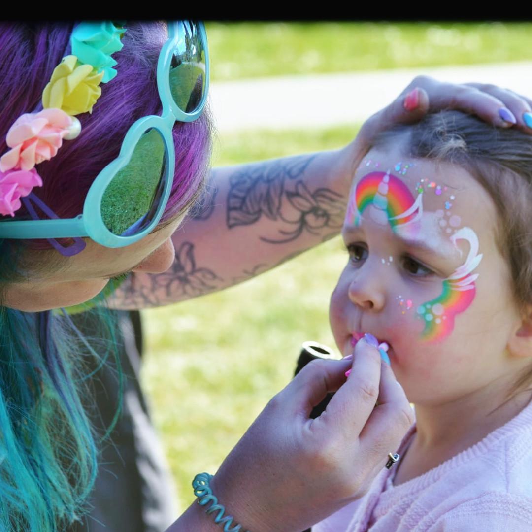 Cherry Rainbow face painting