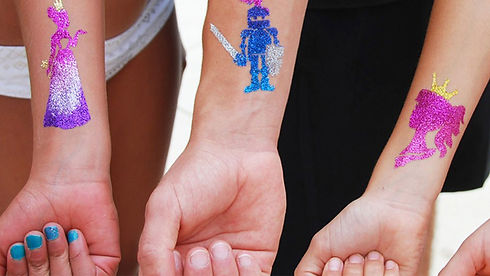 glitter tattoos on arms Wellington New Zealand