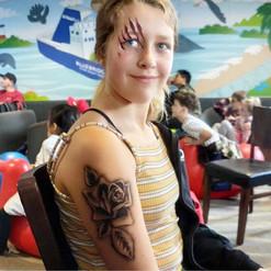 airbrush tattoo rose flower arm Wellington New Zealand