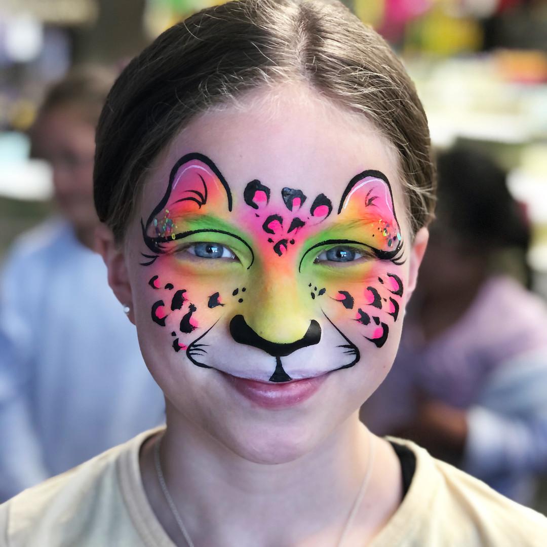 Rainbow cheetah leopard
