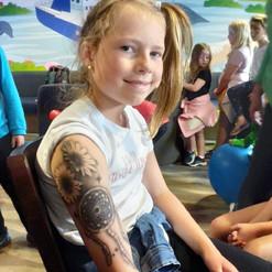 airbrush tattoo flowers dream catcher arm