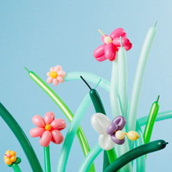 balloon twisting flowers