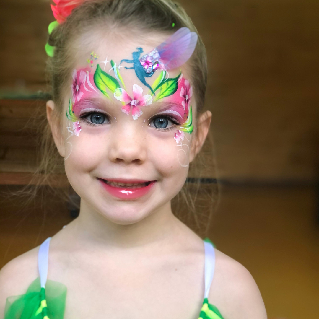 Tinkerbell fairy face paint