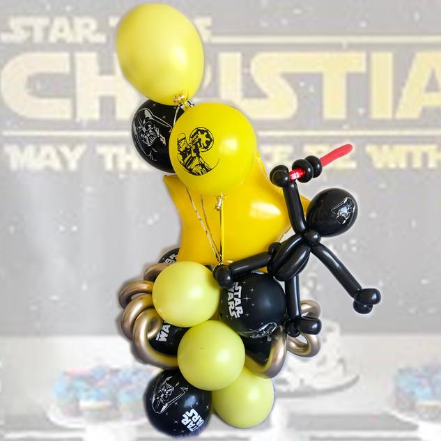 star wars balloon centrepiece