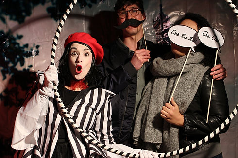 mime character photobooth Wellington New Zealand