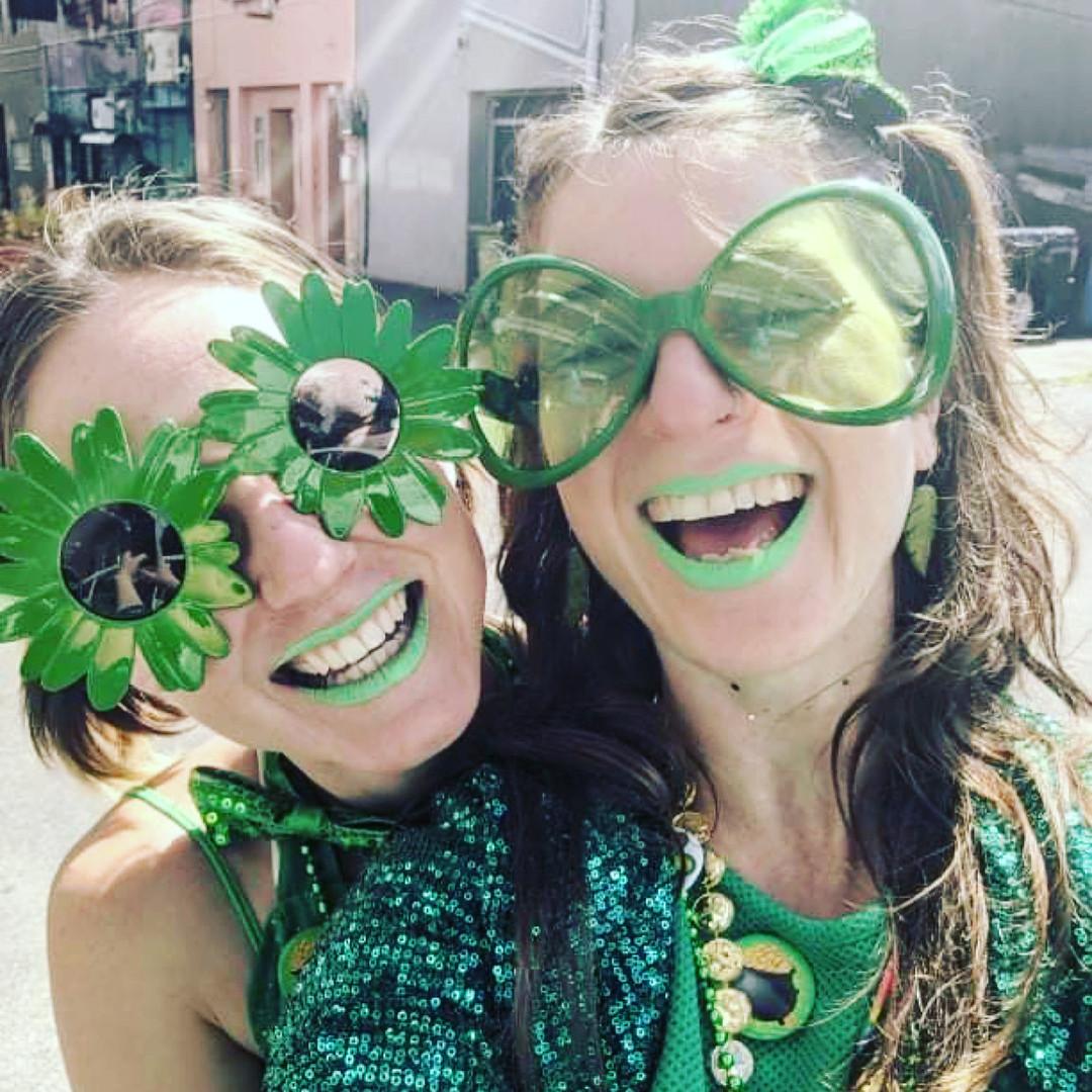 St Patricks Day Parade Circus Performers