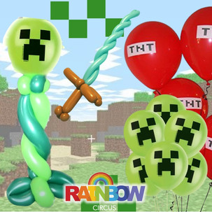 Minecraft video game balloon twisting and face painting Wellington New Zealand