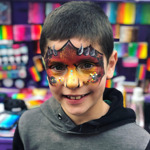 dragon boy face painting Wellington New Zealand