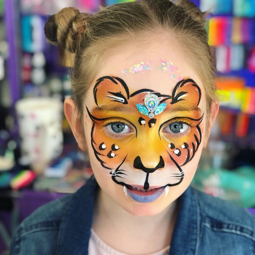 Leopard Cheetah cat face painting Jungle Wellington New Zealand