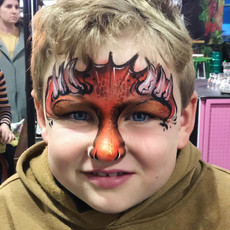 red fire dragon face paint